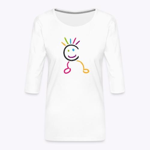 Bonhomme Gymcâline - T-shirt Premium manches 3/4 Femme