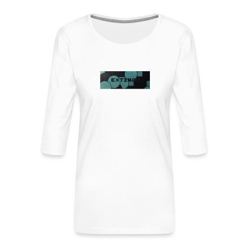 Extinct box logo - Women's Premium 3/4-Sleeve T-Shirt