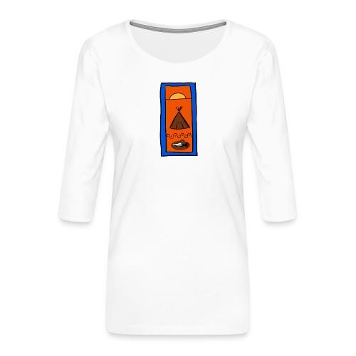 Samisk motiv - Premium T-skjorte med 3/4 erme for kvinner