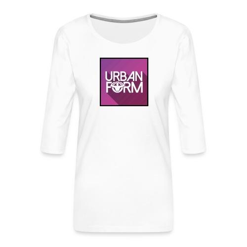 Logo URBAN FORM - T-shirt Premium manches 3/4 Femme