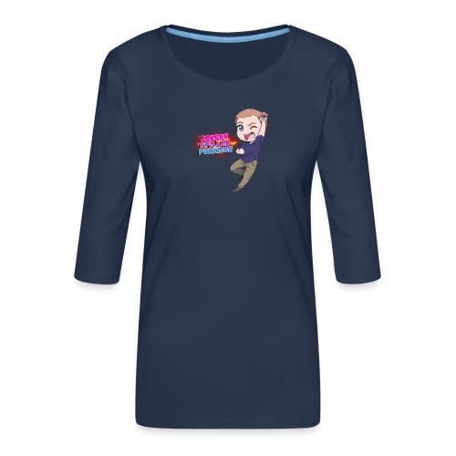 Jørgen spiller lommemonstre - Dame Premium shirt med 3/4-ærmer
