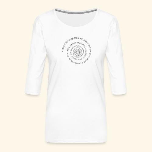 SPIRAL TEXT LOGO BLACK IMPRINT - Women's Premium 3/4-Sleeve T-Shirt