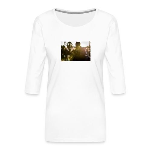 Shaka saxo - T-shirt Premium manches 3/4 Femme