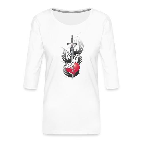 Love Hurts 3 - Liebe verletzt - Frauen Premium 3/4-Arm Shirt