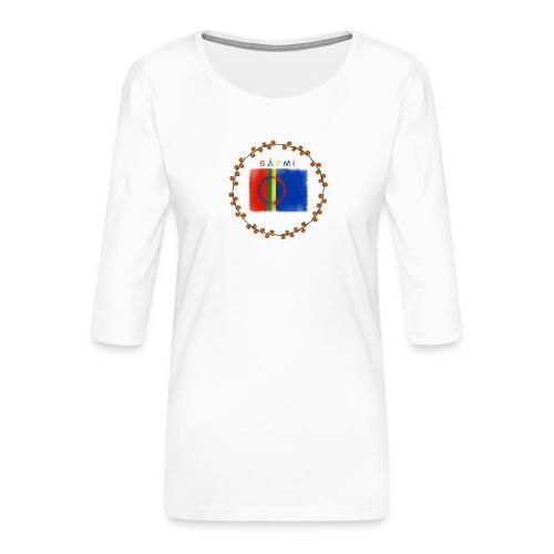 Sapmi - Premium T-skjorte med 3/4 erme for kvinner