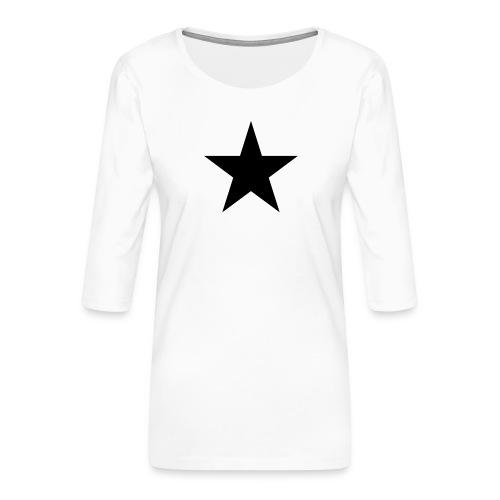 Ardrossan St.Pauli Black Star - Women's Premium 3/4-Sleeve T-Shirt