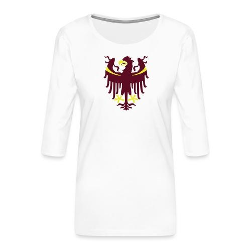 Wappen des Landes Südtirol - Frauen Premium 3/4-Arm Shirt
