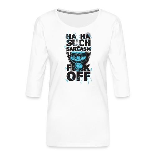 Sarcasm - Premium-T-shirt med 3/4-ärm dam