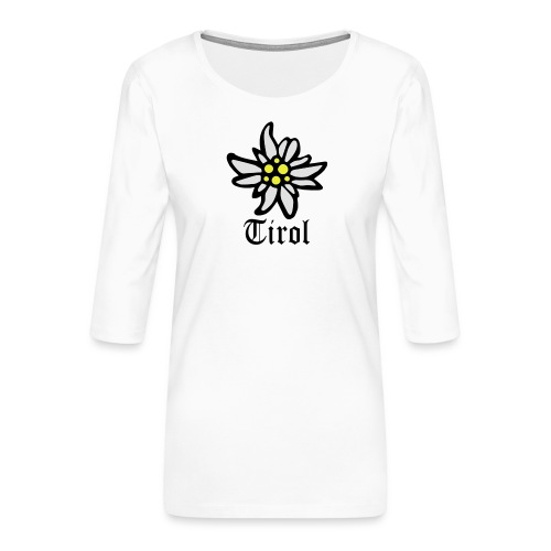 Tirol Edelweiss - Frauen Premium 3/4-Arm Shirt