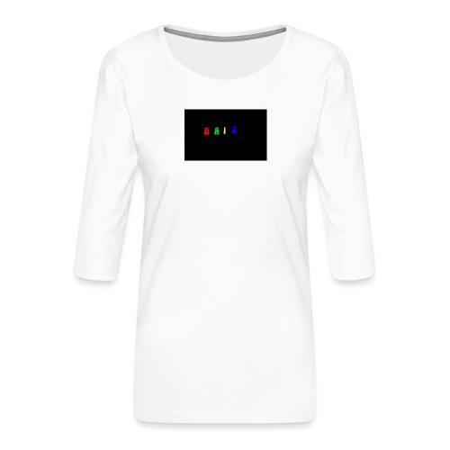 Gaiz - Maglietta da donna premium con manica a 3/4