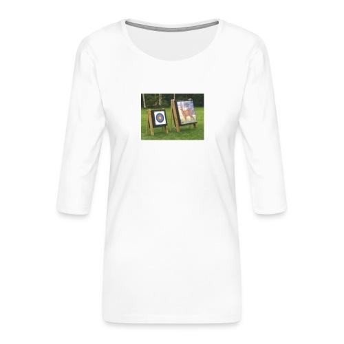 7EE4ABA5 03CC 4458 8D34 B019DF4DD5F1 - Premium T-skjorte med 3/4 erme for kvinner
