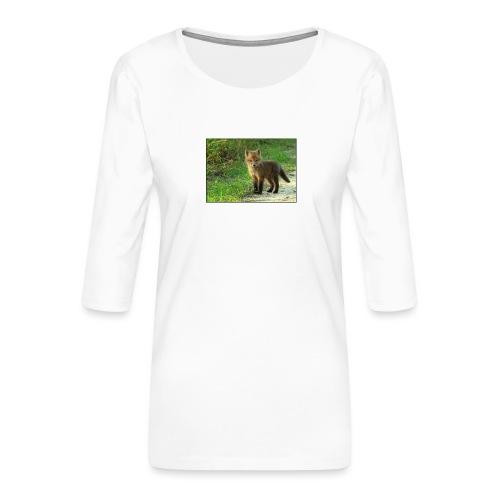 vossen shirt kind - Vrouwen premium shirt 3/4-mouw
