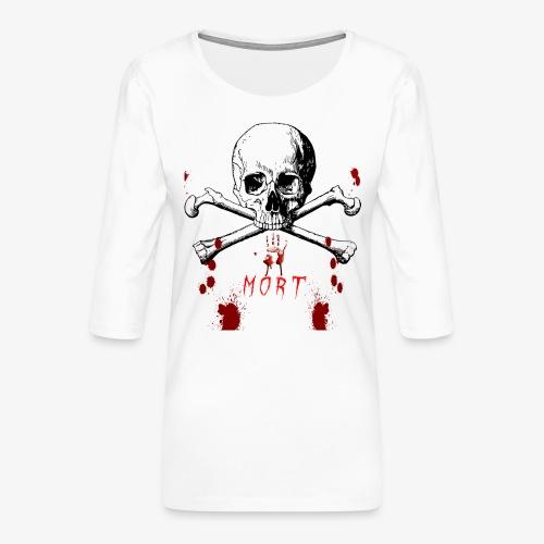 Mort design avec sang - T-shirt Premium manches 3/4 Femme