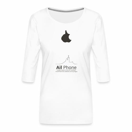 ailphoneok png - T-shirt Premium manches 3/4 Femme