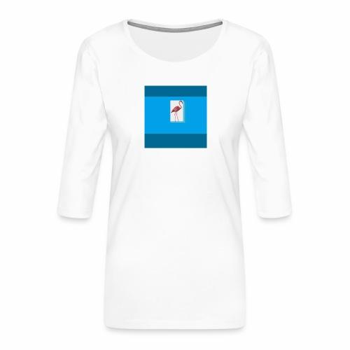 Flamingoscotteri - Maglietta da donna premium con manica a 3/4