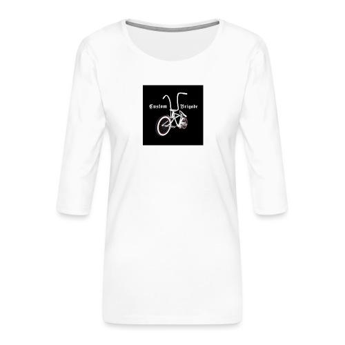 badge001 - T-shirt Premium manches 3/4 Femme