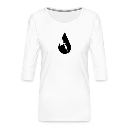 INK Drop Tee - Dame Premium shirt med 3/4-ærmer