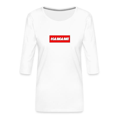 HAMAMI - Maglietta da donna premium con manica a 3/4