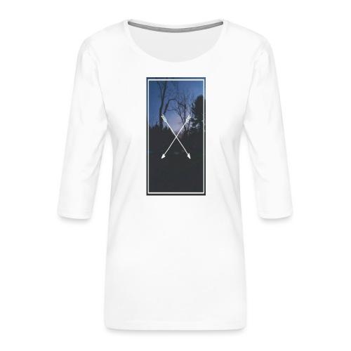 Bosque Flexhas - Camiseta premium de manga 3/4 para mujer
