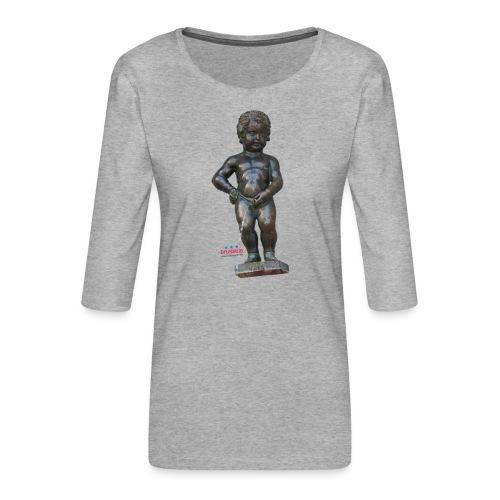 BiG REAL mannekenpis ♀♂   小便小僧 - T-shirt Premium manches 3/4 Femme
