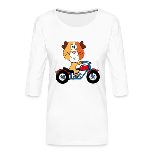 MEERSCHWEINCHEN - MOTORRAD - BIKER - MOTORSPORT - Frauen Premium 3/4-Arm Shirt