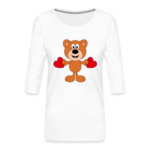 TEDDY - BÄR - LIEBE - LOVE - KIND - BABY - Frauen Premium 3/4-Arm Shirt