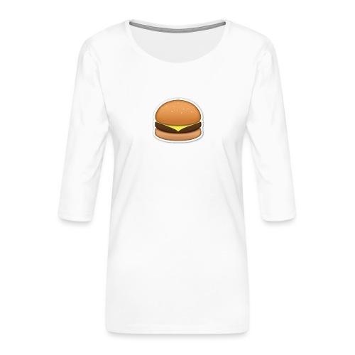 hamburger_emoji - Vrouwen premium shirt 3/4-mouw