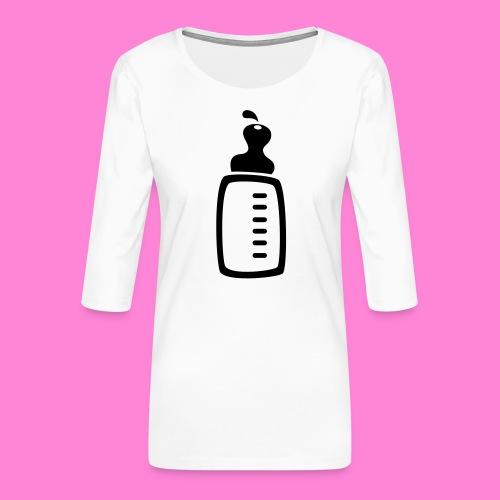 melkfles1 - Vrouwen premium shirt 3/4-mouw