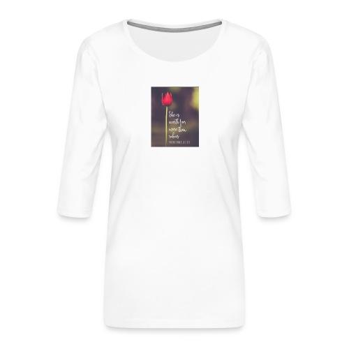 IMG 20180308 WA0027 - Women's Premium 3/4-Sleeve T-Shirt