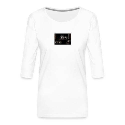 Rock_Stars_on_Stage_NEW - Women's Premium 3/4-Sleeve T-Shirt