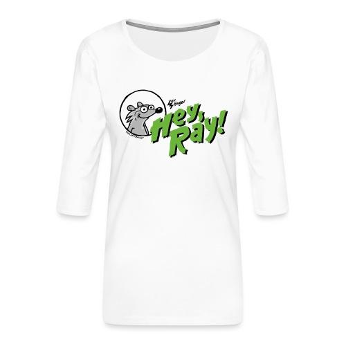 Hey Ray Logo green - Frauen Premium 3/4-Arm Shirt