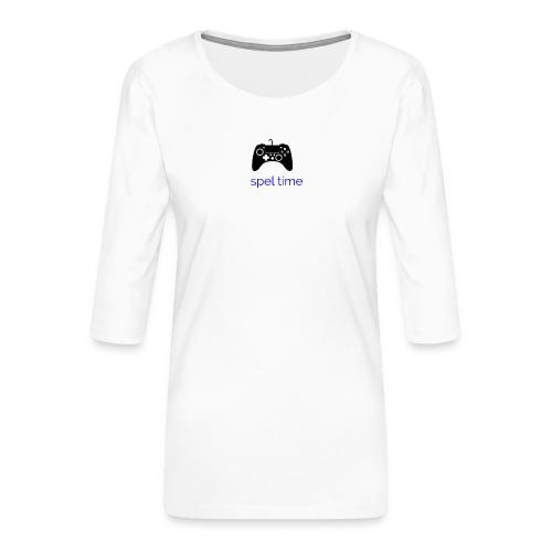 spel time - Premium-T-shirt med 3/4-ärm dam