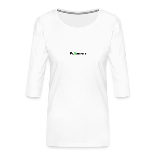 pcgamers-png - Maglietta da donna premium con manica a 3/4