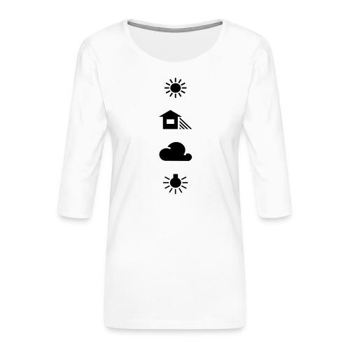 Weissabgleich - Frauen Premium 3/4-Arm Shirt