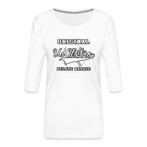 origiinalUSMETRO2 png - T-shirt Premium manches 3/4 Femme