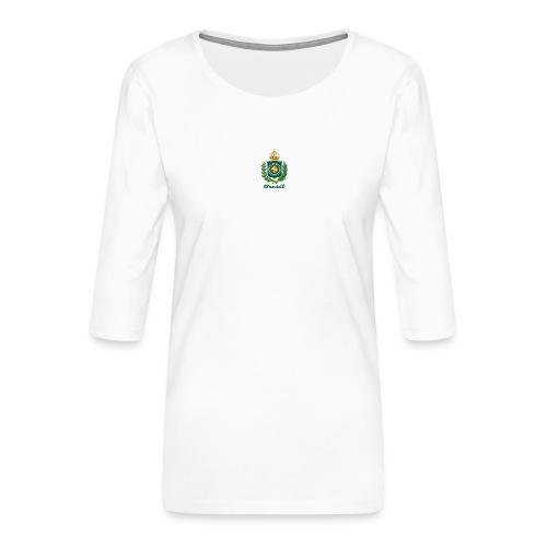 Império do Brasil - Premium T-skjorte med 3/4 erme for kvinner