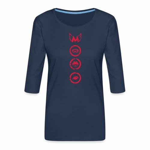 Mosso_run_swim_cycle - Maglietta da donna premium con manica a 3/4