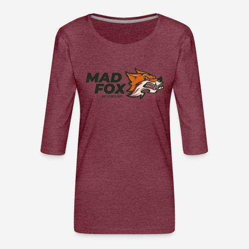 mad crazy fox - Frauen Premium 3/4-Arm Shirt