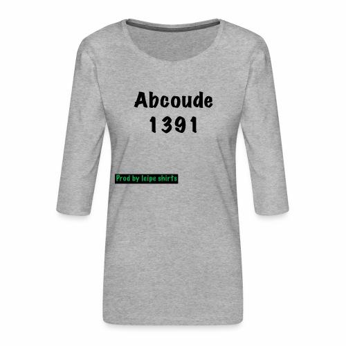 Abcoude post code merk - Vrouwen premium shirt 3/4-mouw