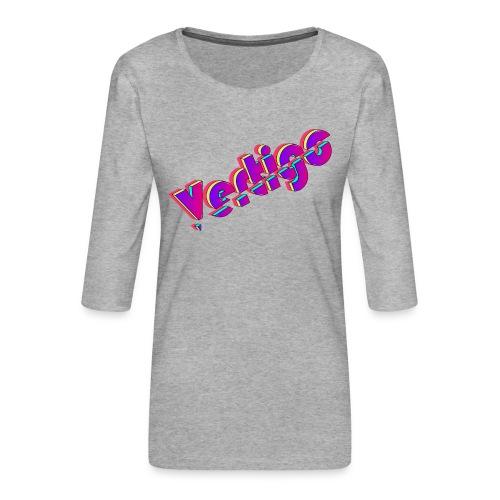 Vertigo - Camiseta premium de manga 3/4 para mujer