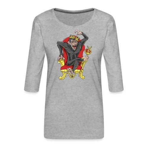 Bitcoin Monkey King - Beta Edition - Frauen Premium 3/4-Arm Shirt