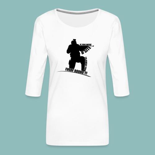 I'd rush you - Black Version - Frauen Premium 3/4-Arm Shirt