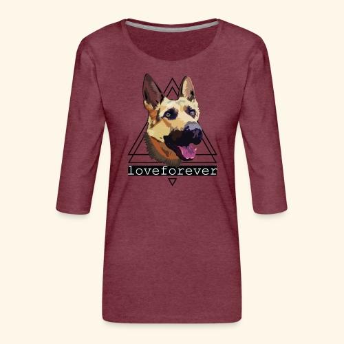 SHEPHERD LOVE FOREVER - Camiseta premium de manga 3/4 para mujer