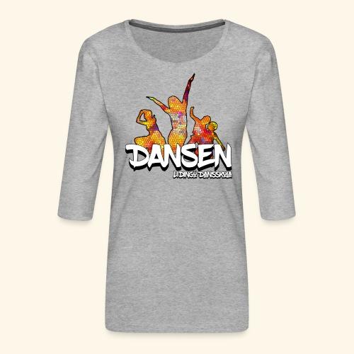 Dansen Mosaik - Premium-T-shirt med 3/4-ärm dam
