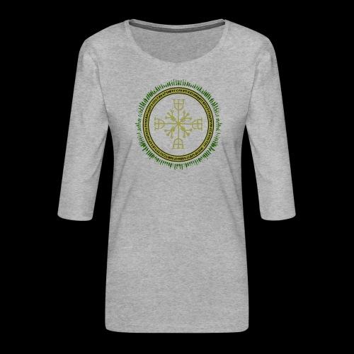 Norse Runes with Aegishjalmur 2017 - Women's Premium 3/4-Sleeve T-Shirt