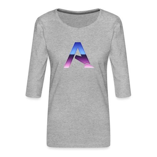 logga 3 - Premium-T-shirt med 3/4-ärm dam