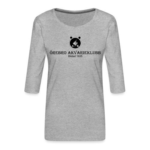 Nyloggatext1 - Premium-T-shirt med 3/4-ärm dam
