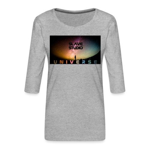 Universe - Maglietta da donna premium con manica a 3/4