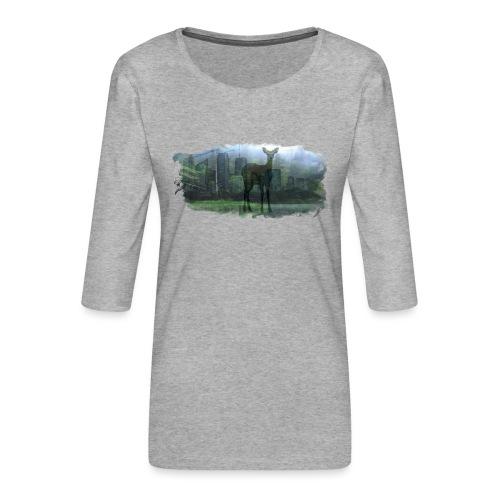 Nature in the City - Women's Premium 3/4-Sleeve T-Shirt