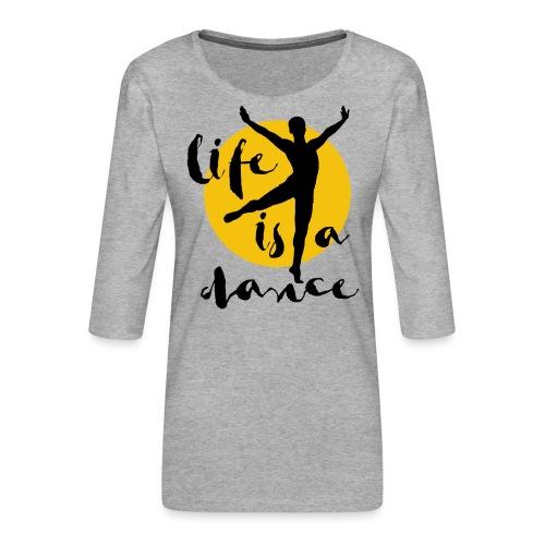 Ballett Tänzer - Frauen Premium 3/4-Arm Shirt